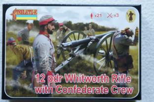Strelets 1/72 ST0183 12 Pdr Whitworth Rifle with Confederate (ACW)